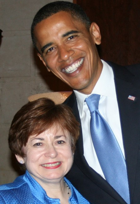 Maxine and Presidential Candidate Barack Obama- August 2008